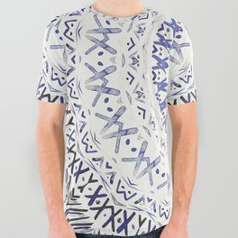 FESTIVAL SUMMER - FADED BLUE All Over Graphic Tee