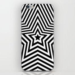 Stars - black & white vers. iPhone Skin
