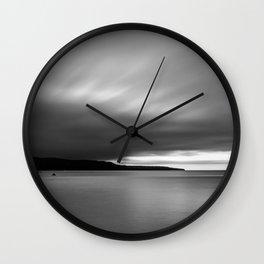 Monotone Coast Wall Clock