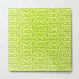 Abstract Decorative Pattern 63 - Green Metal Print