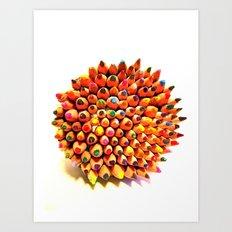 2 Many Pencils Art Print
