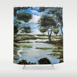LA GAVIOTA Shower Curtain