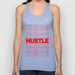 Hustle Thank You Plastic Bag Typography Unisex Tank Top