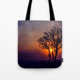 A Sunset Silhouette in Hampi, India Tote Bag