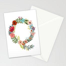 Monogram Letter Q Stationery Cards