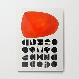 Solar Symbol Metal Print