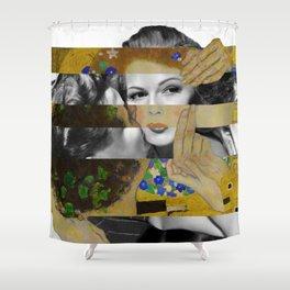 Klimt's The Kiss & Rita Hayworth with Glenn Ford Shower Curtain