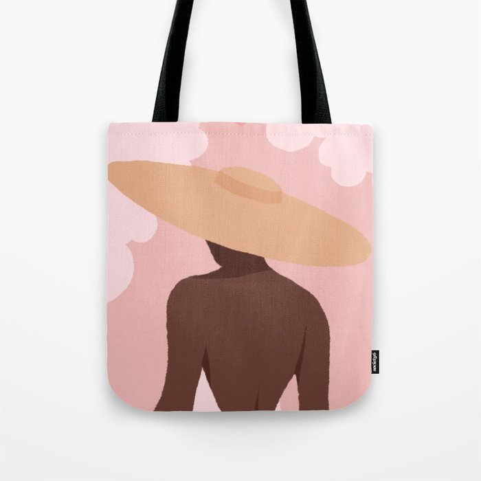 If the Sky is Pink + White Tote Bag