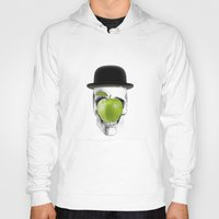 magritte Hoodies featuring Magritte Skull by HenryWine