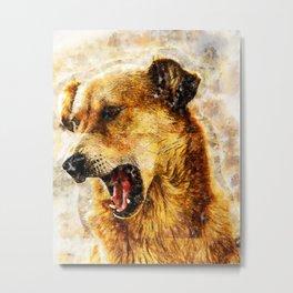 Indian street dog artwork Metal Print