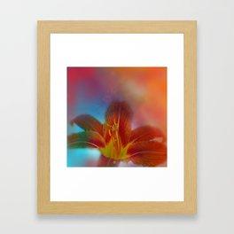 liking orange -01- Framed Art Print