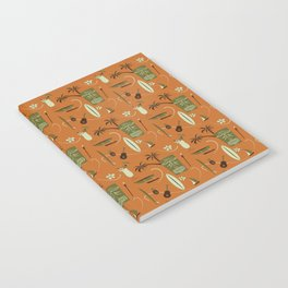 Orange Retro Hawaiian Tiki Hawaii Beach Notebook