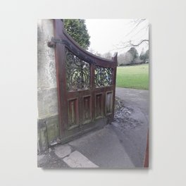 Entering the Gate - Doorways Series - Llanelli, Wales Metal Print