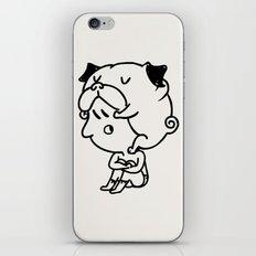 Cuddly Pug iPhone & iPod Skin