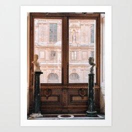 A Louvre Moment Art Print