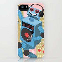 Robot DJ iPhone Case