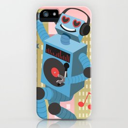 Robot DJ iPhone Case