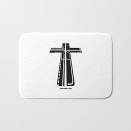 Confusianity (black on white) Bath Mat