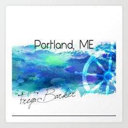 Portland, ME Art Print