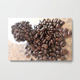 Tumbling Coffee Beans Metal Print