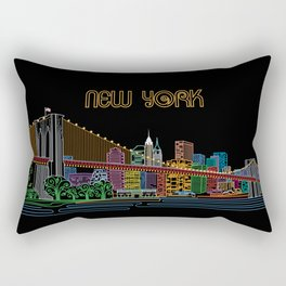 New York Circuit Rectangular Pillow