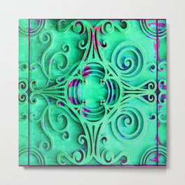 Ornate Flourish Art Deco Detail Metal Print