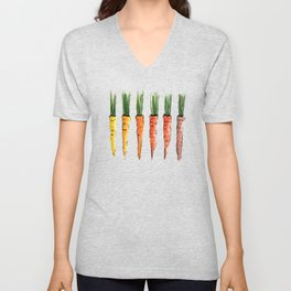 Happy colorful carrots Unisex V-Neck