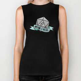 Anything is Possible D20 Biker Tank