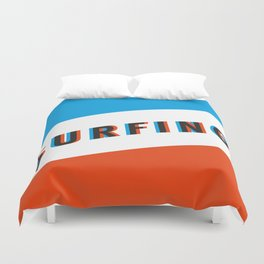 SURFING 3D - Square Duvet Cover