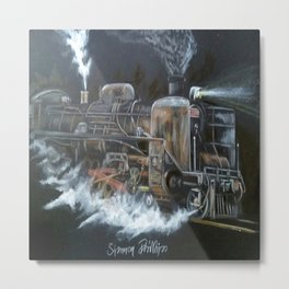 Steamer Full Pelt Metal Print