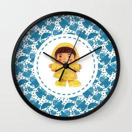 The Rain Girl Wall Clock