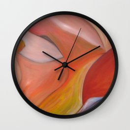Red nude.  Original Painting by Ciel Ellis Wall Clock
