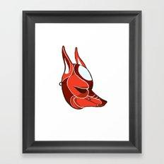 Grumpy Kitsune Framed Art Print