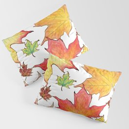 Autumn Maple Leaves Pillow Sham
