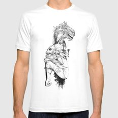 Empty Words MEDIUM White Mens Fitted Tee