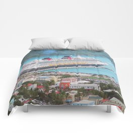 View of our ship Tortola Comforters