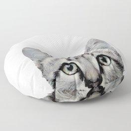 Cat, American Short hair, illustration original painting print Floor Pillow