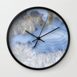 Provincial blue agate couple Wall Clock