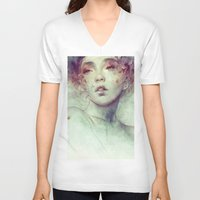 kpop V-neck T-shirts featuring Swarm by Anna Dittmann