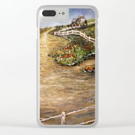 The Old Farm House in Autumn Clear iPhone Case