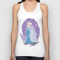 elsa Tank Tops featuring Elsa by LarissaKathryn