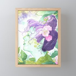 The Blackberry Faery Framed Mini Art Print