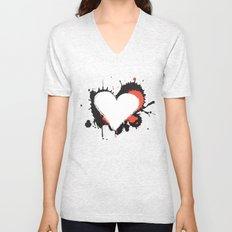 I Heart Live Art Unisex V-Neck