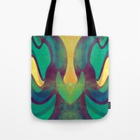 waves Tote Bags featuring Waves by VessDSign