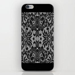Blk Lace iPhone Skin