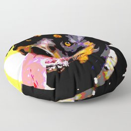 The ROTTIE from our POP YOUR POOCH line Floor Pillow