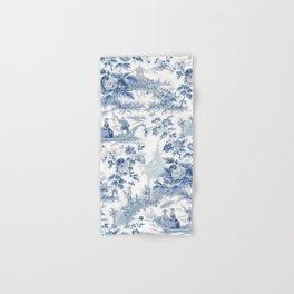 Powder Blue Chinoiserie Toile Hand & Bath Towel