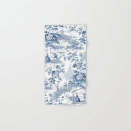 Powder Blue Chinoiserie Toile Hand & Bath Towel
