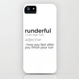 Adrenaline Rush Runner's High Running Is Life Run Design iPhone Case