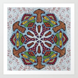 Dreams Mandala - מנדלה חלומות Art Print